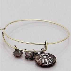 Jewelry - 4 for $25 Patina Hamsa burnished gold bangle